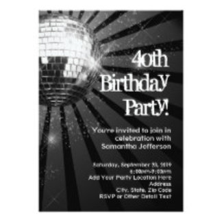 40th Birthday Party Invitations, Gifts, Decoration