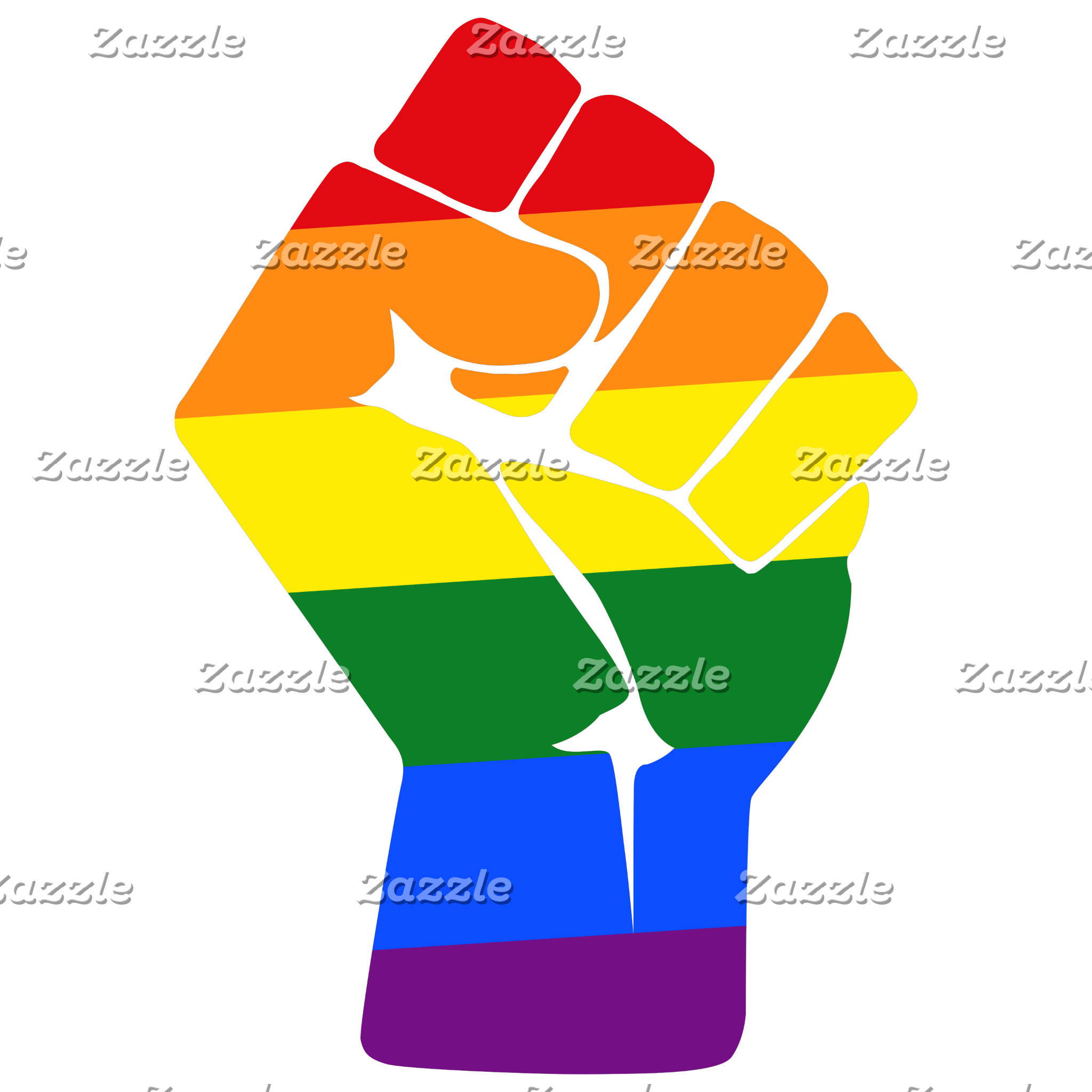 LGBT Solidartiy Rainbow Protest Raised Fist