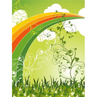 :: Rainbow Clover Swirls