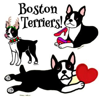 Boston Terrier Cartoons and Illustrations