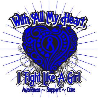 Colon Cancer Heart I Fight Like A Girl