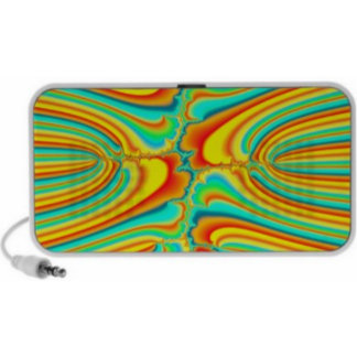 Colorful funky abstract fractal speakers