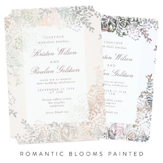 Romantic Blooms Painted