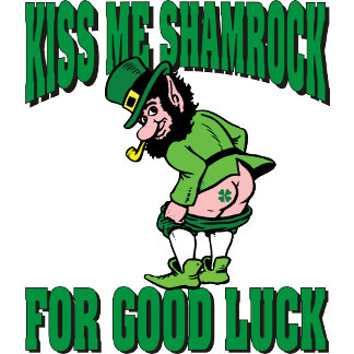 Kiss My Shamrock For Good Luck T-Shirts Gifts