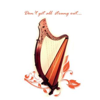 Harp Birthday Cards