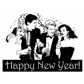 Happy New Year (B&W Friends)