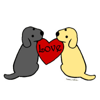 Two Labradors and Heart