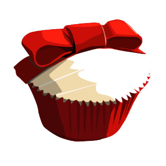 Red velvet cupcake template products