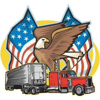 American Flag Trucker