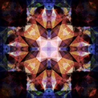 Textured Geometric Mandala