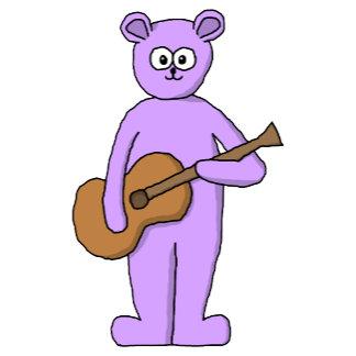 Purple bear playing guitar