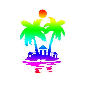 beach island houses rainbow invert.png