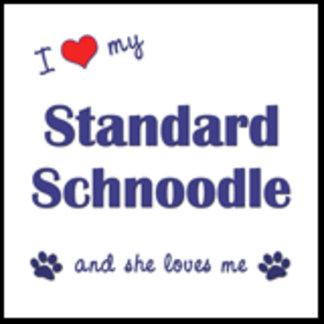I Love My Standard Schnoodle (Female Dog)