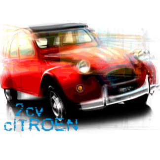 Citroen 2CV red