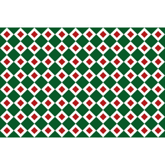 Green, White, Red Diamond Pattern