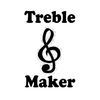 treble maker clef black music desgin