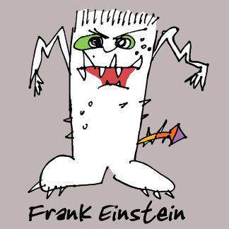 Cartoon FrankEinstein
