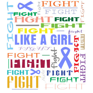 Stomach Cancer Fight Like a Girl Collage