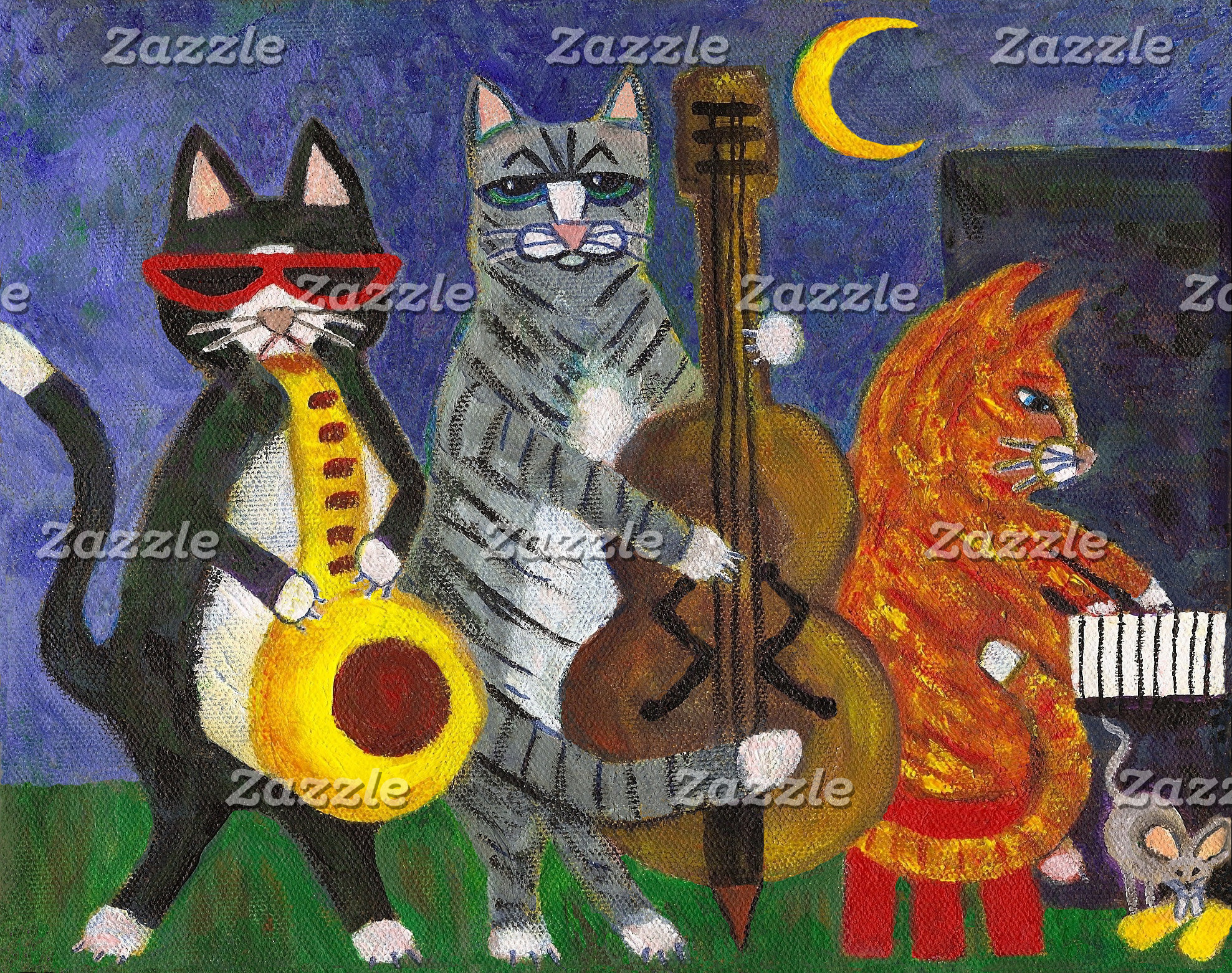 Jazz Cats at Night