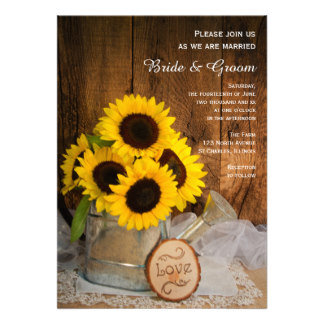 Sunflowers and Garden Watering Can Wedding
