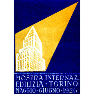 1926 Turin Italy Construction Expo Poster