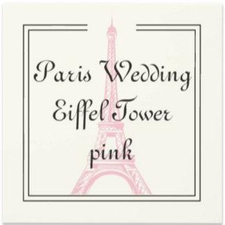 Paris Wedding Eiffel Tower Pink