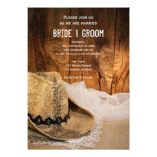 Cowboy Hat and Barn Wood Wedding