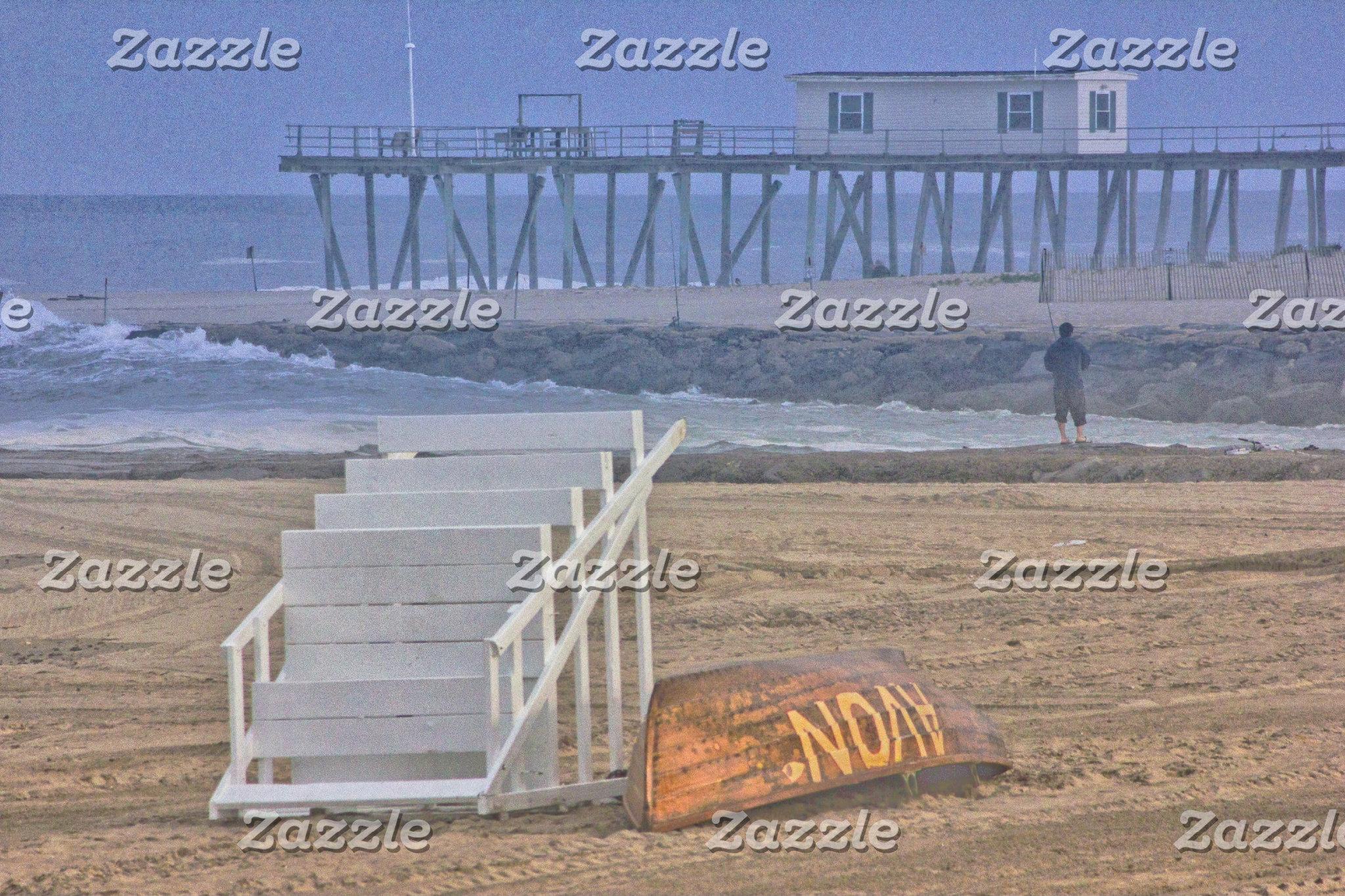 Beach Beaches Lifeguard Chair Boat Oceanview