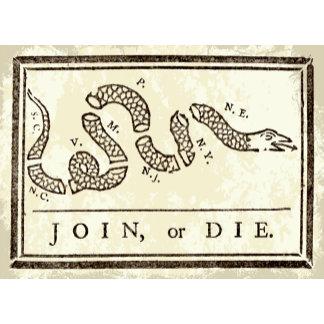 Join or Die - Benjamin Franklin Freedom