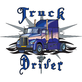 Blue Truck Driver T-shirts and Gifts