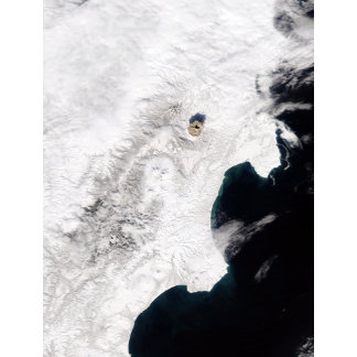 The Shiveluch Volcano in Kamchatka Krai, Russia