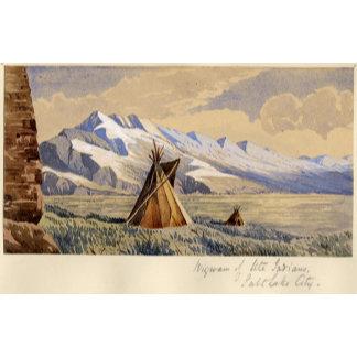 Wigwam of Ute Indians, Salt Lake City