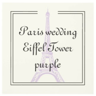 Paris Wedding Eiffel Tower purple