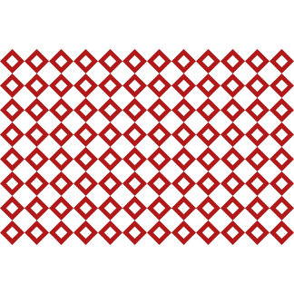 White and Red Diamond Pattern