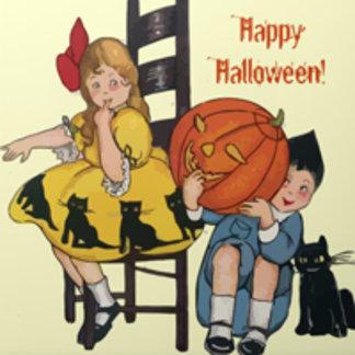 Vintage Halloween Scene