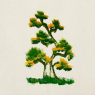 Elephant Painting: Tree