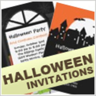 Halloween Invitations and Stamps