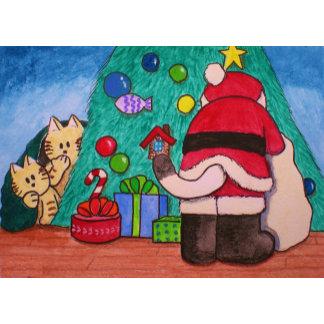 Santa Cat Exist!