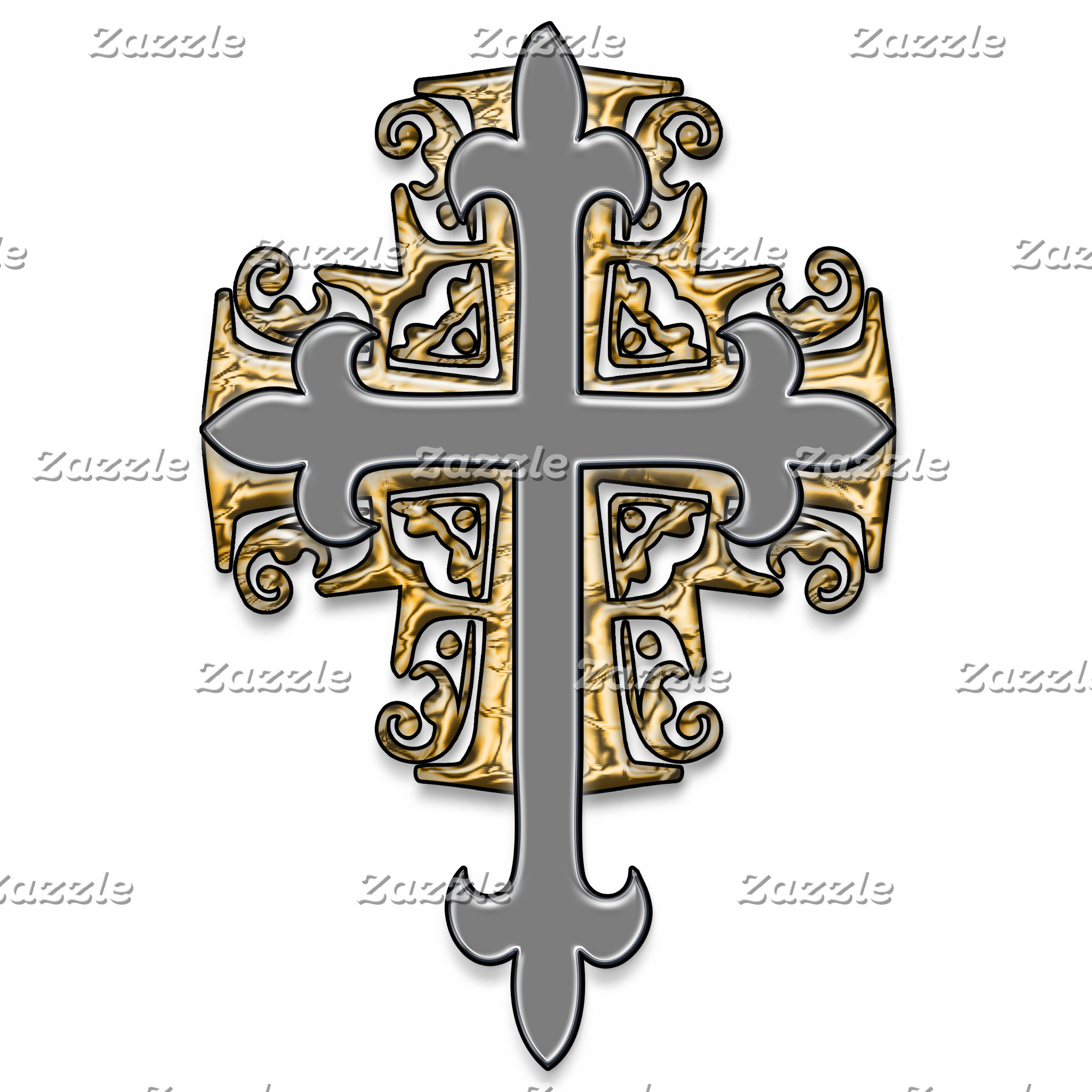 Gold and Silver Cross