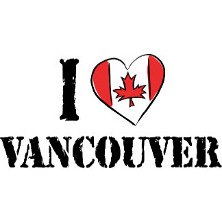 I Love Vancouver Canada T-Shirt