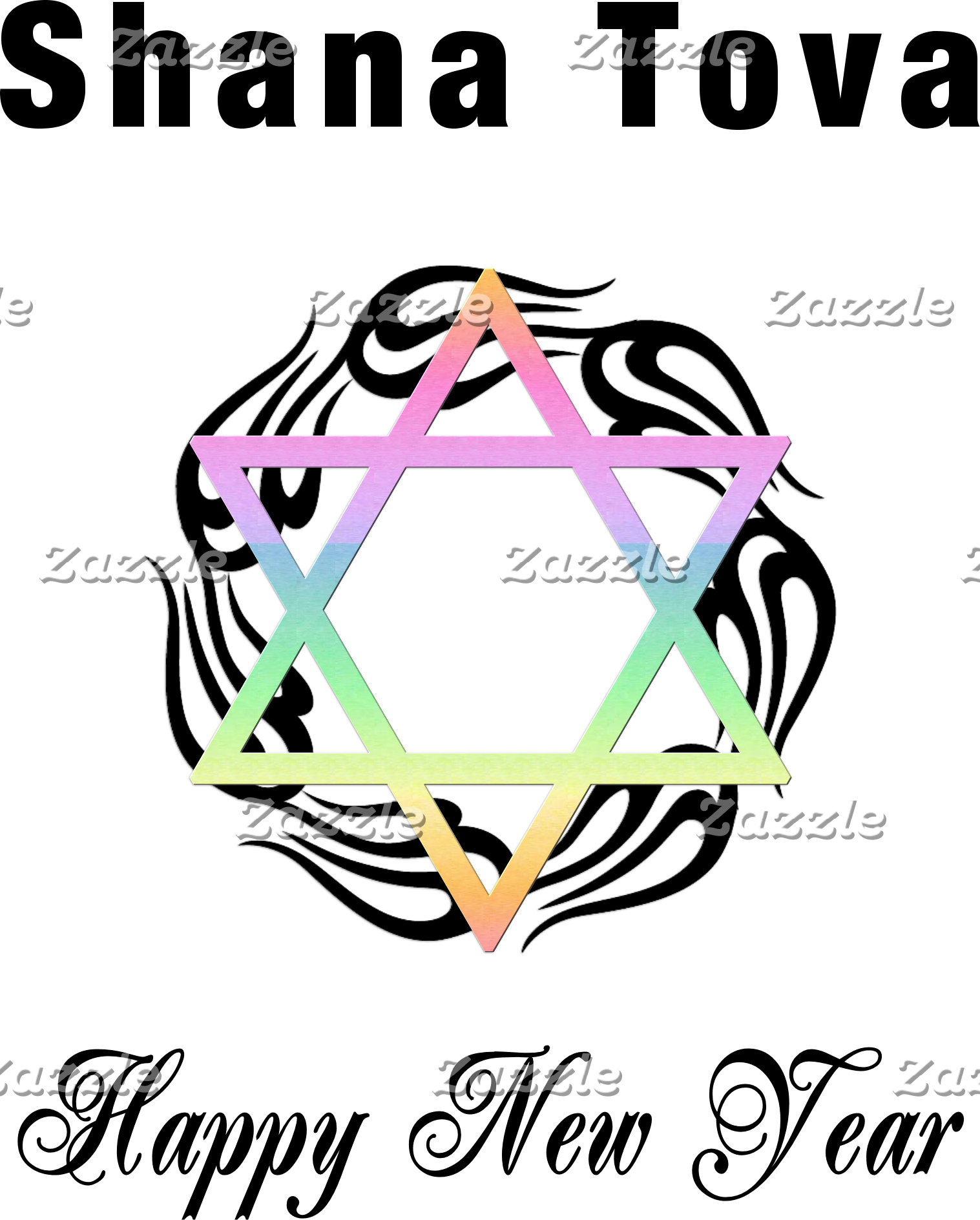 Jewish New Year Star of David
