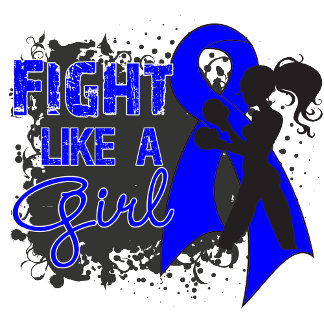 Colon Cancer Fight Like A Girl Grunge
