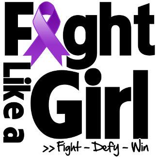 Epilepsy Ribbon Fight Like a Girl