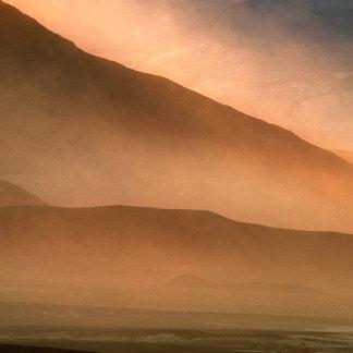 Sandstorm at Mesquite Sand Dunes, Sunset