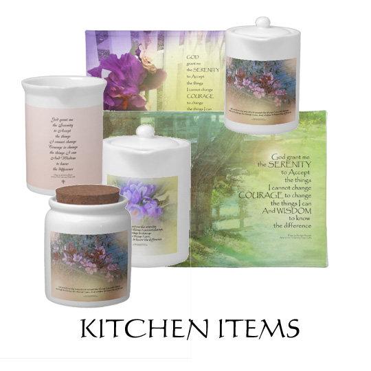 Serenity Prayer Kitchen Items