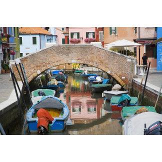 Island of Burano, Burano, Italy. Colorful