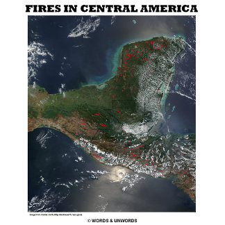 Fires In Central America (Satellite Geography)