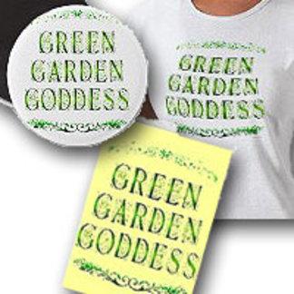 Green Garden Goddess Saying