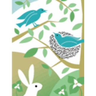 Happy Spring Birds & Bunny