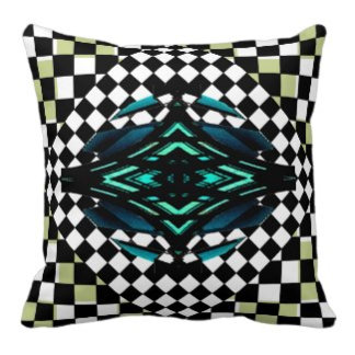 Hipster Checkerboard Pillows and Decor